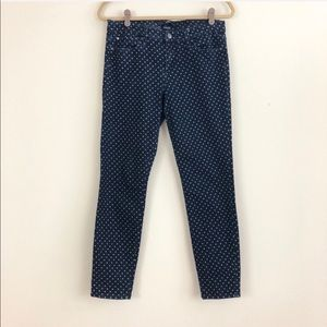 Else Polka Dot Skinny Ankle Jeans
